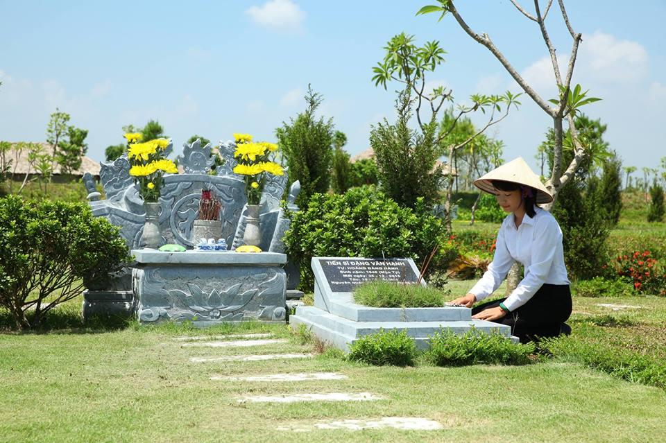 Mộ phần sạch sẽ tại công viên nghĩa trang thiên đức